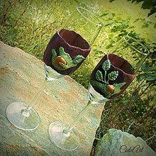 Nádoby - Zamilované - svadobné poháre (2 ks) bez textu - 5653048_