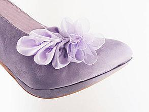 Obuv - Fialkový sen - klipy na topánky - 5652072_