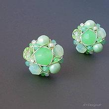 Náušnice - Náušničky GREEN JADE... - 5650769_