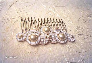 Ozdoby do vlasov - Pearl wedding - hrebienok - 5651452_