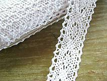 - Čipka zo 100% bavlny, 3cm x 18,3 m- biela - 5653095_