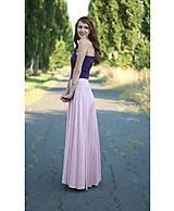 Sukne - Sukňa dlhá kruhová v bledo ružovej.... - 5656408_