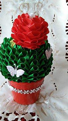 Dekorácie - Rozkvitnutý kaktus - 5657360_