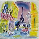 - S402 - Servítky - Paríž, akvarel, eiffel - 5657029_