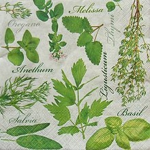 Papier - S412 - Servítky - bylinky, herbs, rôzne - 5657117_