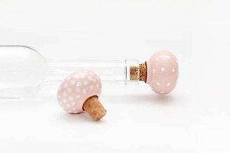 Pomôcky - Ružový štupeľ na fľašu - 5654238_