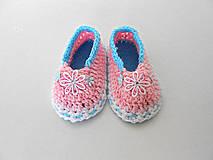 Detské topánky - Papučky v ružovom :) - 5656666_
