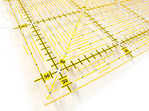 Pravítko na patchwork 31,5 x 31,5 cm