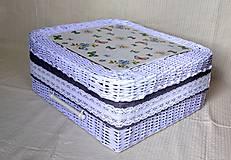 Košíky - Box LUCY s poklopom - 5656611_