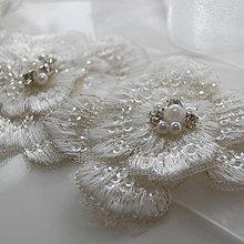 Opasky - Wedding Lace Collection Flower ... pásek a čelenka - 5660158_