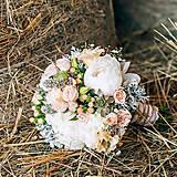 Romantická svadobná kytica s pivonkami