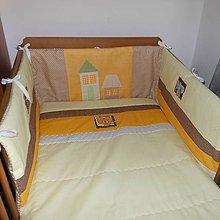 Textil - Hniezdo do postielky-žlto hnedé - 5657993_