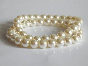 Náramky - elastický náramok z perál SWAROVSKI - 5658535_