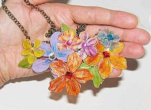 Náhrdelníky - žiarivé flowers - 5660395_
