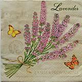 - S438 - Servítky - levandula, motýle - 5660580_