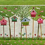 - S450 - Servítky - búdky, stromy, kvetiny - 5660668_