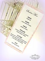 Papiernictvo - Svadobné menu