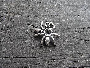 Komponenty - Prívesok -pavúk, starostriebro - 5659214_