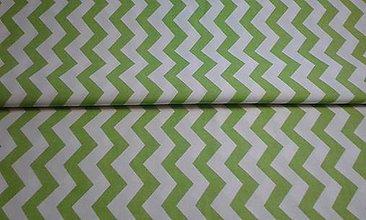 Textil - Cik cak zelený - 5660570_