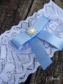 Bielizeň/Plavky - Svadobný podväzok {Blue} - 5659148_