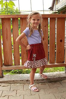 Detské oblečenie - bordová - 5658696_