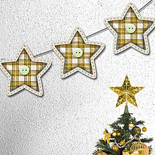 Tabuľky - Vianočná girlanda hviezdičková žltá - 5658259_