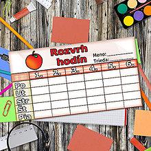 Papiernictvo - Rozvrh hodín - jablko - 5660905_