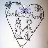 - svadobné fialkové s menami 25cm - 5662264_