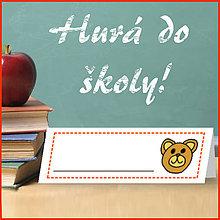 Papiernictvo - Menovka na lavicu - medvedík - 5662938_