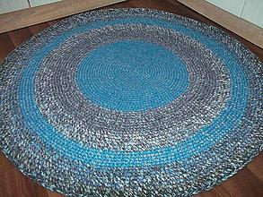 Úžitkový textil - koberec okruhly-modro sedy - 5663776_