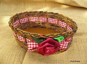 Košíky - Svadba v chalúpke pod lesom - košík na  pierka, alebo sladké drobnosti - 5664744_