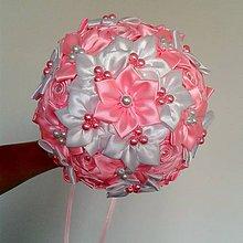 Kytice pre nevestu - Kytica pre nevestu v ružovej - 5665322_