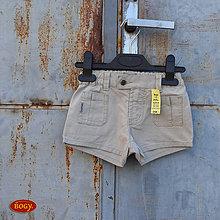 Detské oblečenie - sleva - dívčí plátěné kraťasy v pískové 92/98 - 5665390_