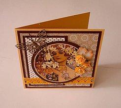 Papiernictvo - Dáma v oranžovom - 5665714_