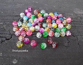 Korálky - Korálky sklenené / praskačky / 10 kusov - 5664102_