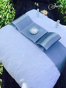 Prstene - Svadobný vankúšik {Silver-white} - 5663917_