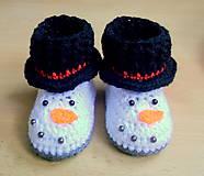 Topánočky - Snehuliakové čižmičky - 5666715_