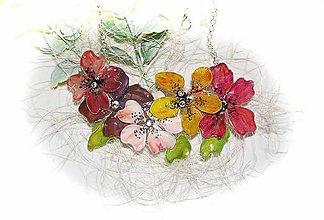 Náhrdelníky - také.. decent flowers - 5665918_