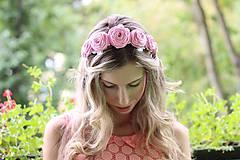 Ozdoby do vlasov - Parta Ružová jemnosť - 5666670_