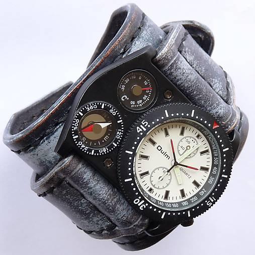 b5547877c Pánske kožené hodinky modré / leon - SAShE.sk - Handmade Náramky