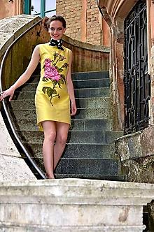 Šaty - Hodvábne maľované šaty-Zľava 70%!!! - 5668738_