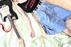 Sukne - Denim grunge z deväťdesiatych - zľava  - 5670164_