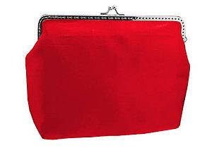 Kabelky - Spoločenská saténová kabelka červená  01TA - 5672500_