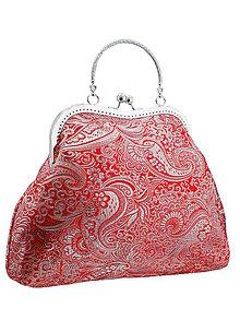 Kabelky - Spoločenská kabelka brokátová červená 02H - 5674003_