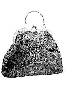 Kabelky - Spoločenská kabelka brokátová čierná 03H (Tyrkysová) - 5674007_