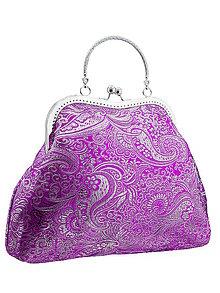 Kabelky - Spoločenská kabelka brokátová fialová 04H - 5674008_