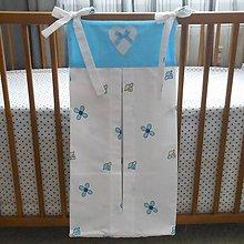 Detské doplnky - Zásobník na plienky Bielo-modrý - 5673008_