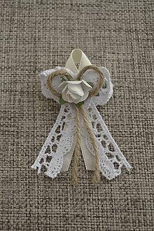 Pierka - vintage pierka III (s ružičkou) - 5671313_