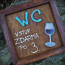 Tabuľky - WC tabuľka - pre vináreň - 5671611_