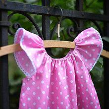 Detské oblečenie - Ružové šatočky pre malú parádnicu - 5672897_
